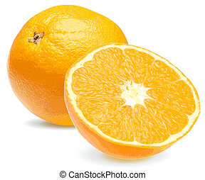 Frische saftige orangefarbene Nahaufnahme 2
