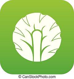 Frische Scheibe von Brokkoli Icon digital grün.