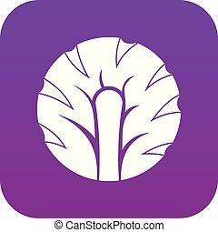 Frische Scheibe von Brokkoli Icon digital lila.