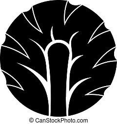 Frische Scheibe von Brokkoli Icon einfach.