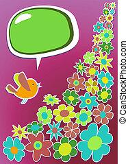 Frische soziale Medien-Vogelkommunikation