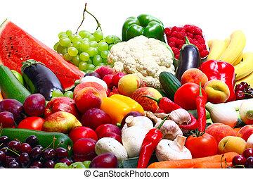 Frisches Gemüse, Früchte.