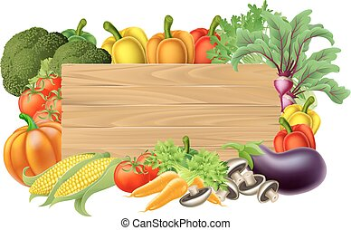Frisches Gemüsezeichen.