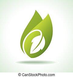 Frisches grünes Blattsymbol.