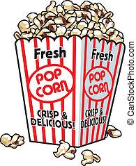 Frisches Popcorn.
