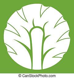 Frisches Stück Brokkoli Ikonengrün