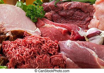 Frischfleisch-Hintergrund