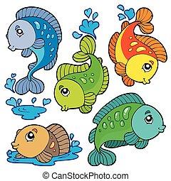 Frischwasserfischsammlung