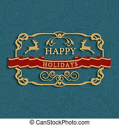 Frohe Feiertage SMS Grußkarte