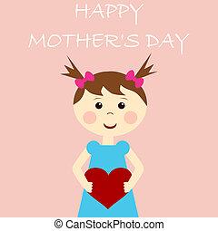 Frohe Mutters Tageskarte.