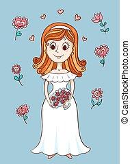 Frohe süße Braut