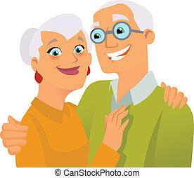 Frohe Senioren