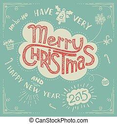 Frohe Weihnachten Doodle Grußkarte