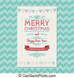 Frohe Weihnachten, Grußkarte