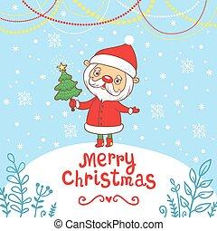 Frohe Weihnachten, Grußkarte.