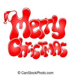 Frohe Weihnachten, isoliert auf weiß