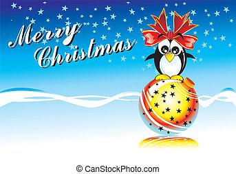 Frohe Weihnachten Pinguin.