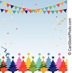 Frohe Weihnachten und frohe neue Postkarte.