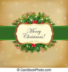 Frohe Weihnachtsgrußkarte
