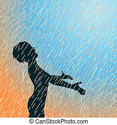 Frohen Regen.