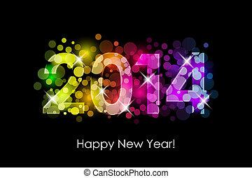 Frohes neues Jahr - 2014 bunt.