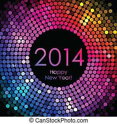 Frohes neues Jahr 2014 - bunt.