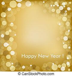 Frohes neues Jahr, Goldener Vektor-Hintergrund