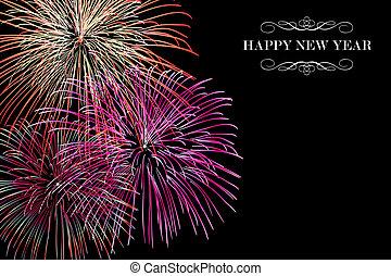 Frohes neues Jahr mit Feuerwerk