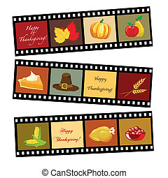 Frohes Thanksgiving-Film-Strip