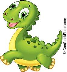 Frohes Zeichentrick-Dinosaurier.
