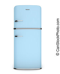 Front-Blue-Retro-Kühlschrank