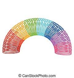 fruehjahr, spirale, spielzeug, regenbogen