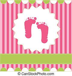 Fußabdrücke von Mädchen