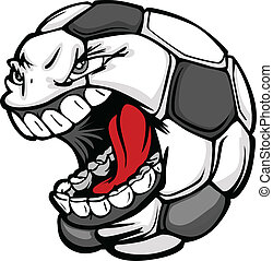 Fußball-Ball schreiend Gesichts-Move-Bild
