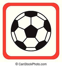 fußball, icon., vektor, illustration., kugel