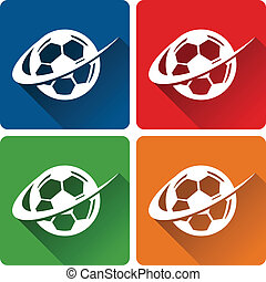 Fußball-Ikonen.