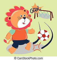 fußball, löwe