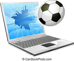 Fußball-Laptop-Konzept.