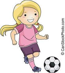 Fußball-Mädchen.