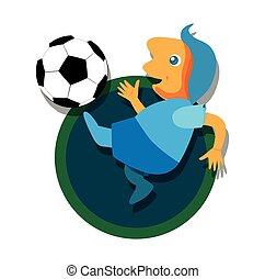 Fußball mit Ball