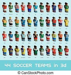 Fußball-Team-Icons sind bereit
