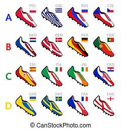 Fußball-Team-Schuhe