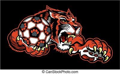 fußball, tiger