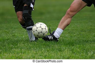 Fußballspiel.