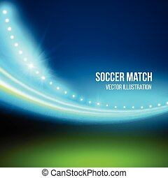 fußballspiel, vektor, stadium., abbildung