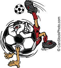 Fußballspieler-Cartoon