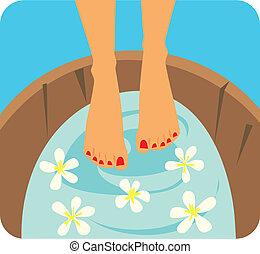 Fußpflege illustriert