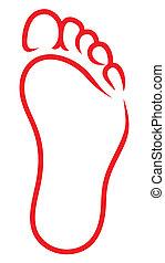 Fußsymbol