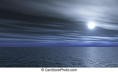 full-moon, nacht