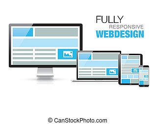 Fully responsive web design in mode.